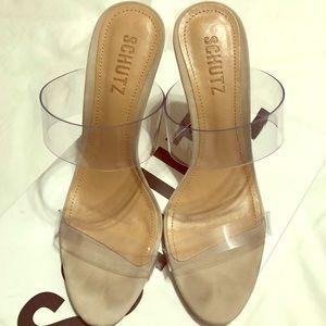 Schutz Ariella Transparente Heels-Size 7.5
